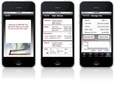 Refill Me! – die App für interaktive Öl- und Gasbestellungen, © Implico
