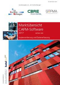GEFMA940 CAFM Marktuebersicht 2017 Cover