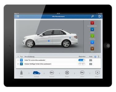 Mobile Service Advisor auf dem iPad