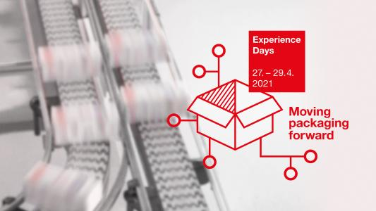 Das Motto der Leuze Experience Days vom 27.-29. April 2021: Moving packaging forward