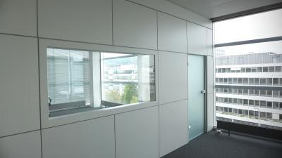 """ISIDesign Trennwand Ausbau eines TV Studios für den internationalen TV-Sender """"CNN-Money Switzerland"""""""