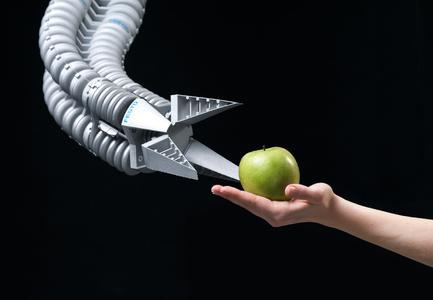 Vom Rüssel inspiriert: der Bionische Handling-Assistent (Fotos: Festo)