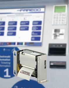GeBE Thermodrucker in Scheidt & Bachmann Ticketautomaten FareGo Sales OT 40