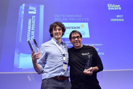 Links: Victor Torres Toledo von der Universität Hohenheim, Rechts: Tobias Zwirner von Phaesun GmbH
