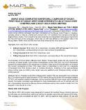 [PDF] Press Release: Maple Gold completes winter drill campaign at Douay