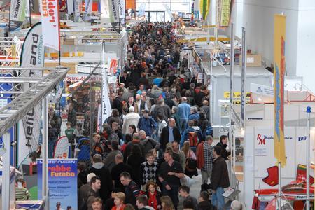 Besucherströme in den Messehallen