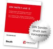 Mit der gebundene Sonderausgabe der DIN 14676-1 und -2 im kompakten DIN A5-Format sind Fachkräfte für Rauchwarnmelder gut informiert.