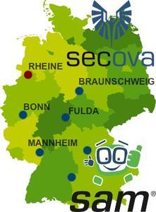 secova und sam* in Deutschland flächendeckend vertreten