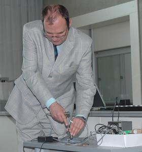 Prof. Dr. Mikhail Chamonine, Professor für Sensorik und Leiter des Sensorik-Labors an der Hochschule Regensburg, ist einer der zahlreichen Referenten bei der Sensorik Summerschool.