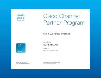 Die SCALTEL Gruppe hat erneut alle Anforderungen für die Rezertifizierung bei der Cisco Systems GmbH erfüllt