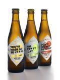 Druckmuster Bierflaschen-Etiketten