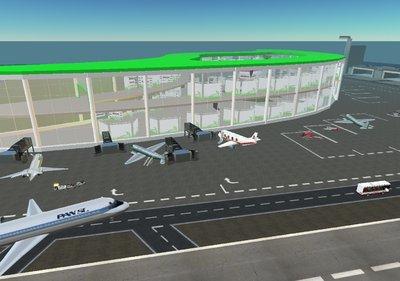Riesiges Airport Gelände