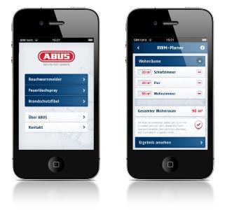 Jetzt gratis für's iPhone und iPad - die innovative Brandschutz-App von ABUS