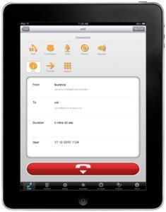 is-phone for iPad - Call window