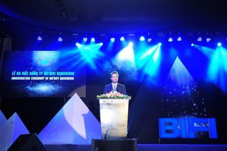 Nicolaus Müller, Managing Director of MC, delivering his address / Photo: MC-BIFI, Vietnam