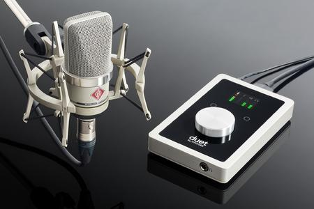 The Neumann TLM 102 and Apogee Duet bundle is an ideal choice for any home recordist looking for a versatile large-diaphragm microphone combined with the most popular portable audio interface for Mac or iPad