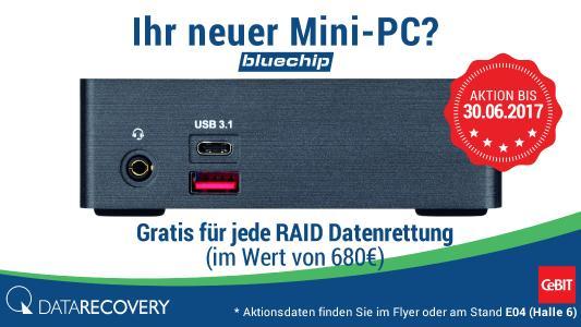 CeBIT Aktion: kostenlose NAS oder Mini PC von bluechip