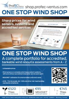 "ProfEC Ventus releases ""ONE STOP WIND SHOP"" for accredited wind measurement systems and calibrated sensors"