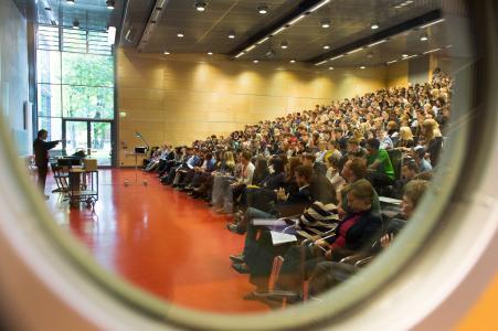 Vorlesung auf dem Campus Griebnitzsee (Karla Fritze)