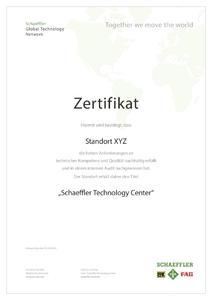 Das Zertifikat bestätigt den hohen Qualitätsstandard und das umfassende Leistungsspektrum / Bild: Schaeffler