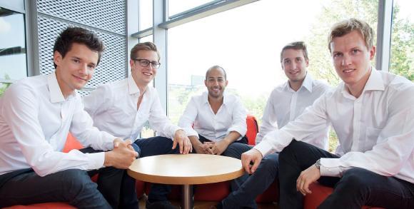 Teamfoto: Die Gründer der Motius GmbH