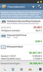 Voller Funktionsumfang - lediglich auf eine Bank beschränkt.
