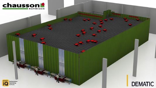 Das AutoStore®-System von Dematic sorgt bei Chausson Matériaux künftig für eine schnellere und effizientere Auftragsabwicklung im E-Commerce. (Foto: Dematic)