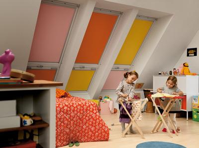 VELUX Kinderzimmer Sonnenschutzprodukte