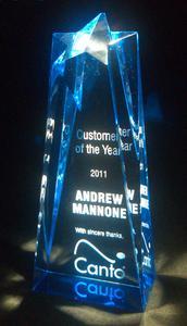 Award - Customer of the Year, 2011.tif