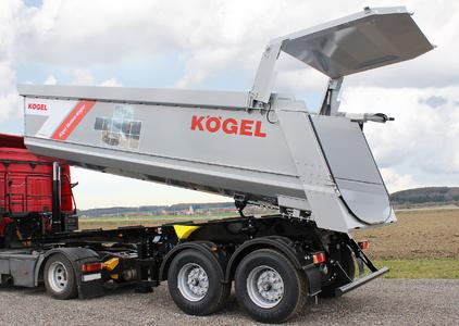 Kögel 2-axle tipper trailer with 27 m³ loading volume