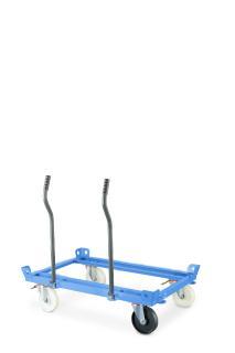 Das neue Design der Einsteckgriffe für Palettentrolleys mit optimierter Ergonomie erleichtert das manuelle Handling von Großladungsträgern in Routenzuganwendungen (Foto: STILL GmbH)