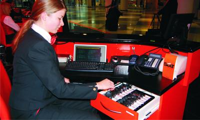 Die prämierte RFID-Lösung von B&M TRICON am SIXT-Counter am Flughafen München