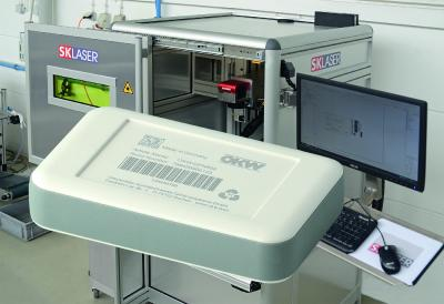 Individual laser marking for electronics enclosures