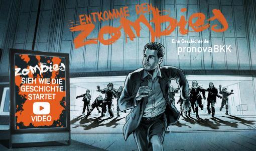 """""""Zombiejagd"""" der pronova BKK begeistert Jugendliche mit Storytelling und Gamification"""