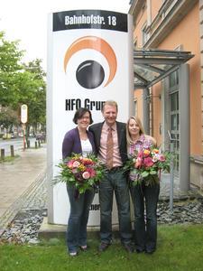 Stefanie Krause, Vorstandsvorsitzender Achim Hager, Antje Dyck (von links)