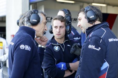 Charly Lamm (l.), BMW Team Schnitzer, ADAC GT Masters, Oschersleben