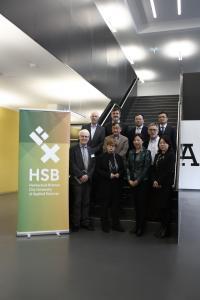 Rektorin Prof. Dr. Karin Luckey (vordere Reihe, zweite von links) begrüßt eine Delegation der Shanghai Dianji