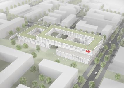 13 700 m² für Büro- und Laborflächen – der geplante Neubau der Würth Elektronik eiSos in München-Freiham / Bild: Würth Elektronik eiSos