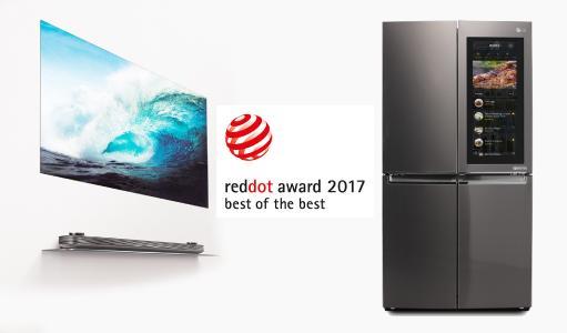 Red Dot Best of the Best LG SIGNATURE OLED TV W und InstaView Refrigerator