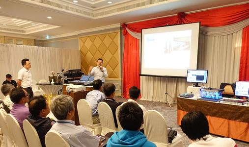 Terence Teng, VP of Sales and General Manager for IHSE ASIA, providing an insight into KVM solutions for broadcast applications in Bangkok