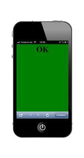 Plancheck Mobil - Anzeige OK