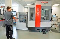 Teil der Prozesskette: Exeron HSC 600 5-Achs-Fräsmaschine mit Awex 50/5-Wechsler (Bild: MBFZ toolcraft)
