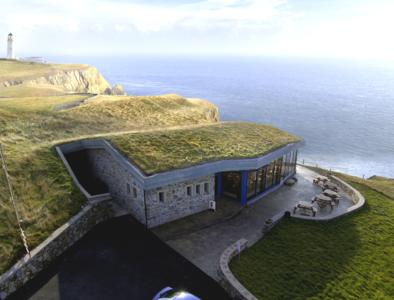 "The family-run Gallie Craig Coffee House is on the southern tip of the Scottish peninsula, ""Rhin of Galloway"", offering breathtaking views across the Irish Sea, Photo: ZinCo"