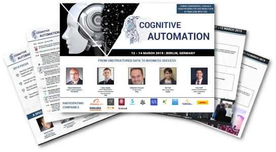 Front Image - Cognitive Automation International Conference 2nd edition
