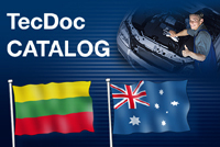 New languages in TecDoc: Lithuanian and Australian English