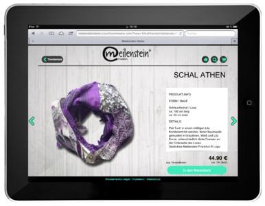 CouchCommerce Web-App Screenshot Meilenstein