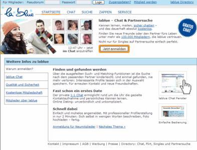 Das Dating-Portal lablue.de