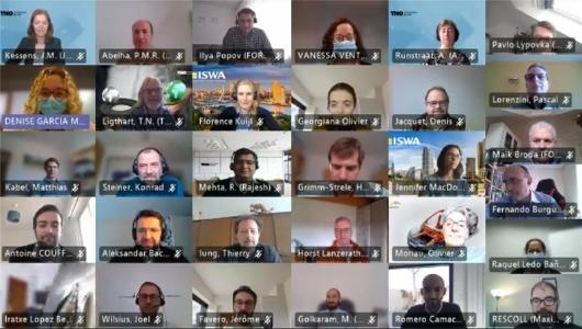 Screenshot des digitalen Kickoff-Meetings von ALMA Ende Februar 2021. ©Fraunhofer ITWM