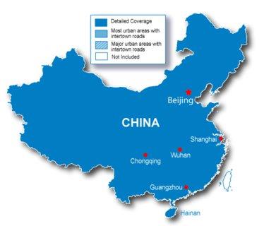 Garmin bietet ab sofort Kartenmaterial für China