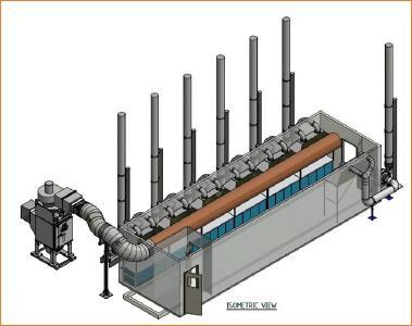 Modularar Aufbau der HPA-Pilotanlage; Quelle: FYI Resources